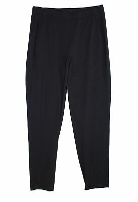 Eileen Fisher Womens Pants Black Size Small S Pull On Slim Leg Stretch $168- 067