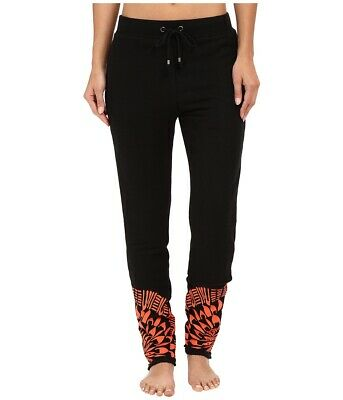 Mara Hoffman Womens Activewear Black Size XS Embroidered Pants $242- 186