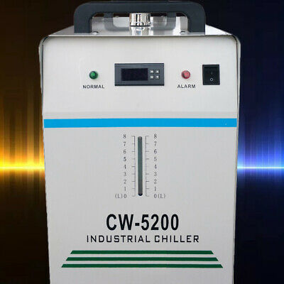 8L Thermolysis Industrial Water Chiller For 60/80W Co2 Glass Tube Cw-5200 220V