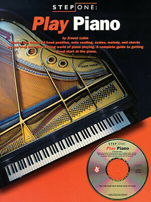 Play Piano Step One Beginner Music Lessons Learn Scales Melody Chord Book CD