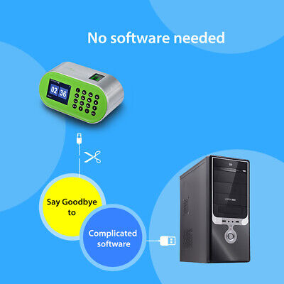 Fingerprint Time Attendance Machine Desktop Employee Recorder for Small Business