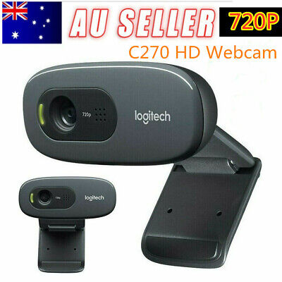 For Logitech C270 HD Video 720P Webcam Widescren Camera USB Webcam w/ Microphone