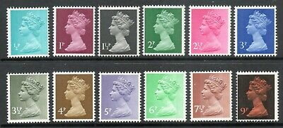 1971 GB Decimal Low Value Machin Definitives 12 values ½p to 9p MNH 15/2/1971
