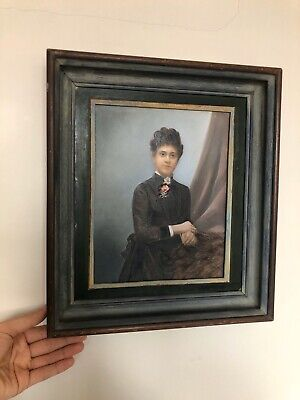Really Old PAINTING 20th Century French? Oil On Board Portrait Of A Lady