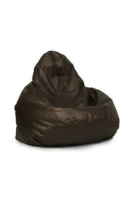 LEATHER Royal Brown 425L Extra Large Beanbag,  Cover ONLY