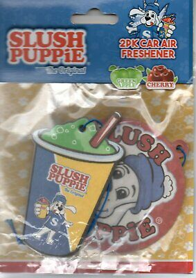 Slush Puppy - Car Air Fresheners - Green Apple/Cherry           *New And Sealed*
