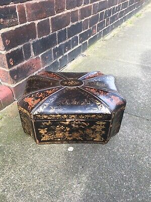 Chinese Export 19thC Lacquer Games Box,chinoiserie