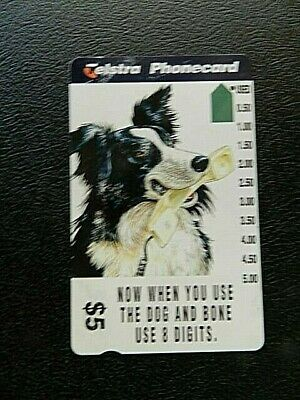 $5 Now When You Use The Dog And Bone Use 8 Digits Telecom Phonecard