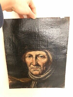 Very Old PAINTING Early / Late 17th Century oil on canvas Mother Of Rembrandt?