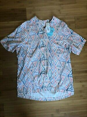 NWT $128 Tommy Bahama Short Sleeve Blue Black Floral Camp Shirt Mens Size S M