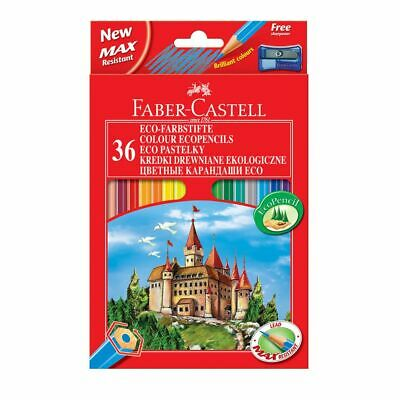 Faber-Castell Classic Colour Pencils - Set of 36 Colours - Art Crayons Drawing