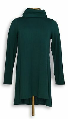 Lisa Rinna Collection Women's Top Sz XS Cowl Neck Tunic Green A297909