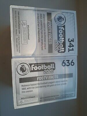 Full complete set all Panini premier league football stickers 2020 636