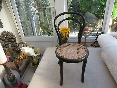Stunning childs Antique bentwood chair ornate cane seat  Authentic Decorators