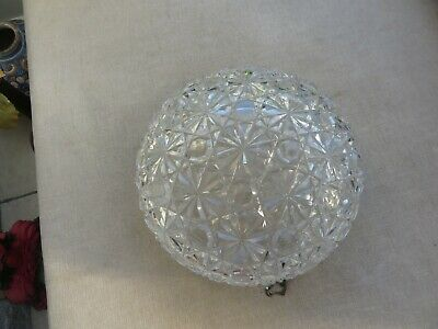 Stunning huge cut glass Antique light with hooks for chain Decorators item