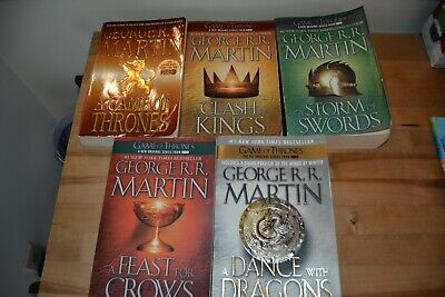Complete Set of All 5 Game of Thrones Trade Paperback Books - George R.R. Martin