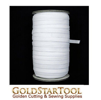 """white Knitted Elastic Roll 1/2"""" Inch Width 144 Yards perfect for sewing & craft"""