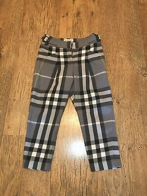 Burberry Check Trousers Girls 4 Years