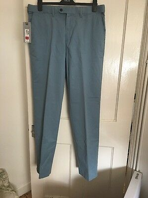 BNWT Marks And Spencer Blue Chinos 36 x 33 BNWT RRP £29 (box 7)
