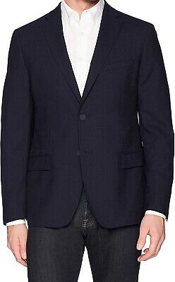DKNY Men's Suit Seperate Blue Size 44 Two Button Blazer Slim-Fit $345 244