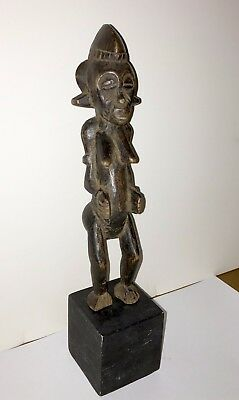 Senufo People Old Carved Wood Statue Of Standing Female Figure -Ivory Coast (#3)