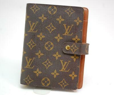 Authentic LOUIS VUITTON  MONOGRAM  Agenda MM Day Planner Cover  SP0999  0401a