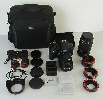 Canon Eos 700D Dslr Camera With 18-55Mm & 55-250Mm Ef-S Is Stm Lenses