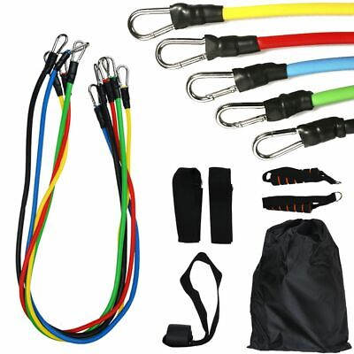 11pcs Resistance Bands Sets Exercise Yoga Fitness Tubes Workout Training Rubber