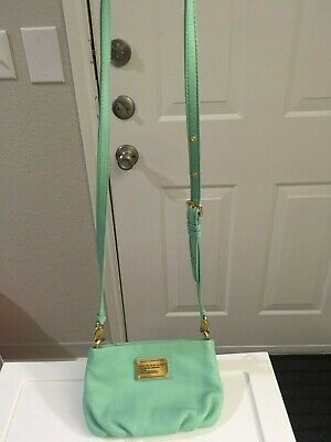 marc by marc jacobs classic q percy crossbody handbag turquoise mint used