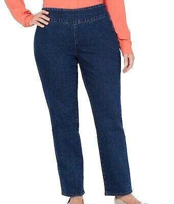 Charter Club Womens Jeans Blue Size 18W Plus Short Slim Pull On Stretch $69 275