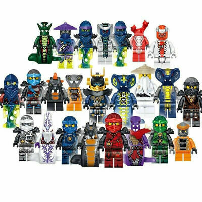 24 pcs Ninjago Mini Figures Kai Jay Sensei Wu Master Building Blocks Toys