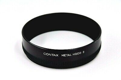 [Exc+5] Contax Metal Lens Hood 3 for Carl Zeiss Planar 55/1.2 85/1.2 From Japa