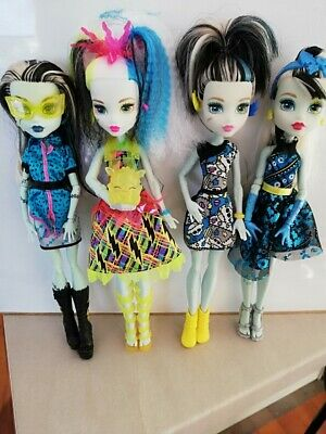 Monster High Frankie Stein in bulk including HTF Scaris and Welcome to MH