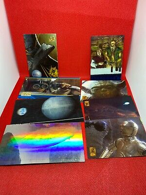 Star Wars Collectible Cards Topps & Merlin Collections Holo 3D Imprinted