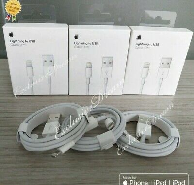 Chargeur Usb Cable Iphone 5/6/7/8/X/Xs/Xr Ipad Ipod, Blanc, 1 M