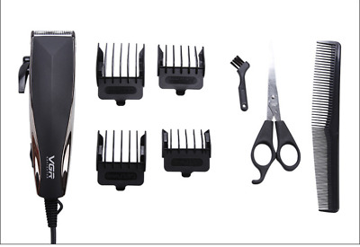Corded Mens Hair Clippers Portable Haircutting Kit  Adjustable cutter head