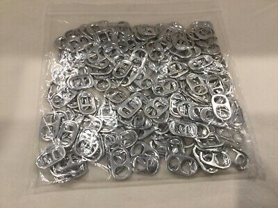 100 Aluminium Can Ring Pull Tabs for Arts, Crafts and Crochet
