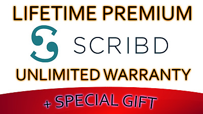 Lifetime Premium Scribd Account with Unlimited Warranty + Special $50 GIFT!