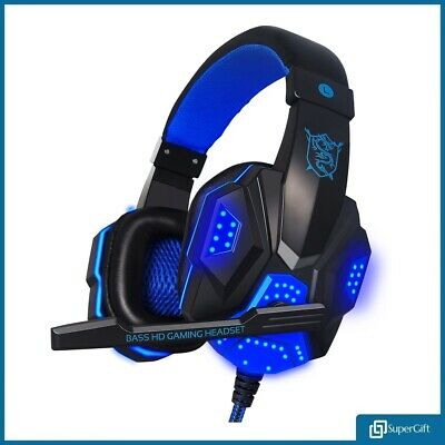 3.5mm Gaming Headset MIC Headphone LED for PC Laptop PS4 Slim Pro Xbox One X S