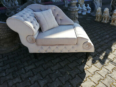 Chaise Lounge Liege Chesterfield Polster Liegen Stoff Sofa Relax Chaiselounge