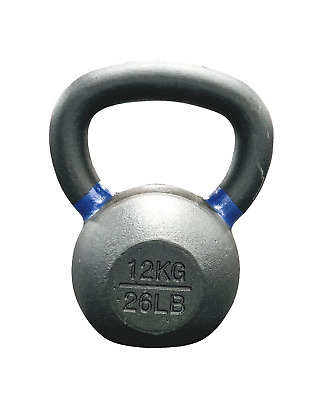 Strencor EKG Kettlebell Black Cast Iron Color-Coded - 12 kg (26 lbs)