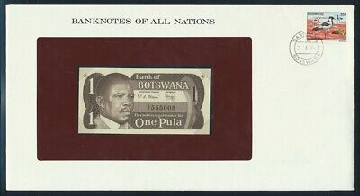 """World: 1968-84 Banknote/Stamp Covers """"SET 7 LUCKY NOS"""" Banknotes of all Nations"""