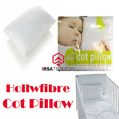 Anti Allergy Cot Bed Pillows Filling Nursery Kids Baby Junior Toddler 40 x 60cm