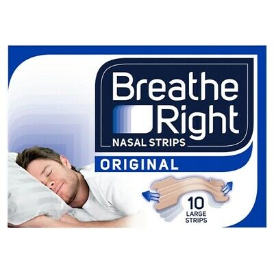 Breath Right Clear Nasal Strips 10 Tan Large Strips