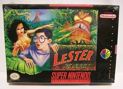Lester the Unlikely : Super Nintendo SNES Factory Sealed Game New Old Stock FS