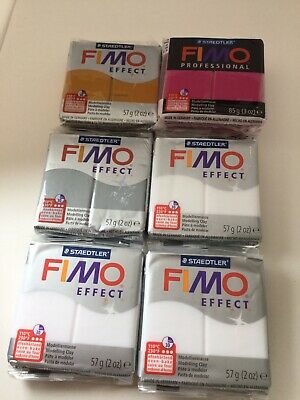 Fimo Modelling Clay 57g & 85g Crafts Hobbies Trans White, Gold, Silver, Magenta