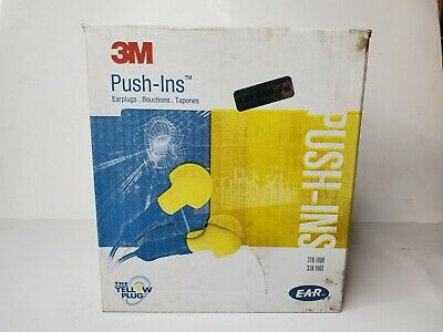 3M Push-Ins Earplugs 100ct