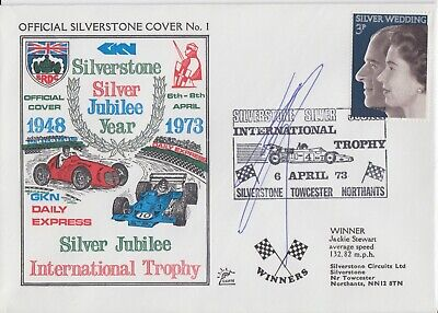 Ron Dennis Hand Signed Silverstone Silver Jubilee Year First Day Cover 1.