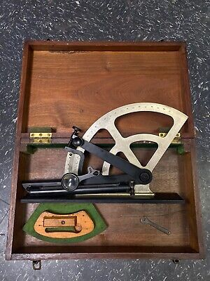 Antique U.S. Naval Sextant With Wood Box - Sun Factory Sup/T.J.H.G. INSP/R. H.F.