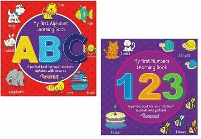 Easy Home Learning Children's My First Numbers Abc Write Practice Books Book